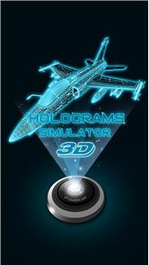 3D Hologram Simulated image
