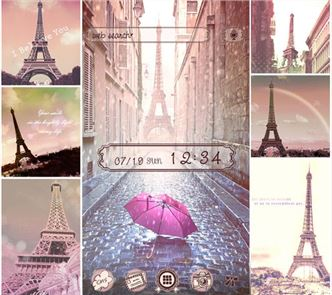 Theme Rain at the Eiffel Tower image