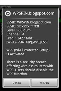 WPSPIN. WPS Wireless Scanner. image