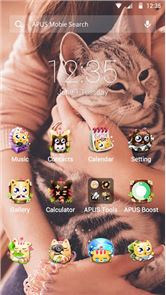 Cute Cats theme for APUS image