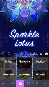 Sparkle Lotus Kika Keyboard image