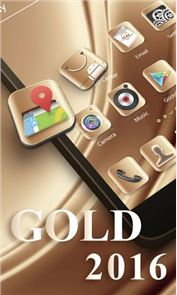 Gold 2016 GO Launcher Theme image