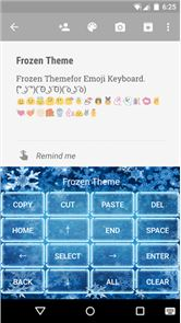 Frozen Emoji Keyboard Theme image