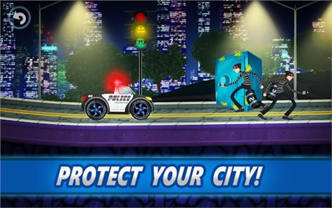 Police car racing for kids image