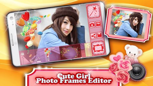 Cute Girl Photo Frames Editor image