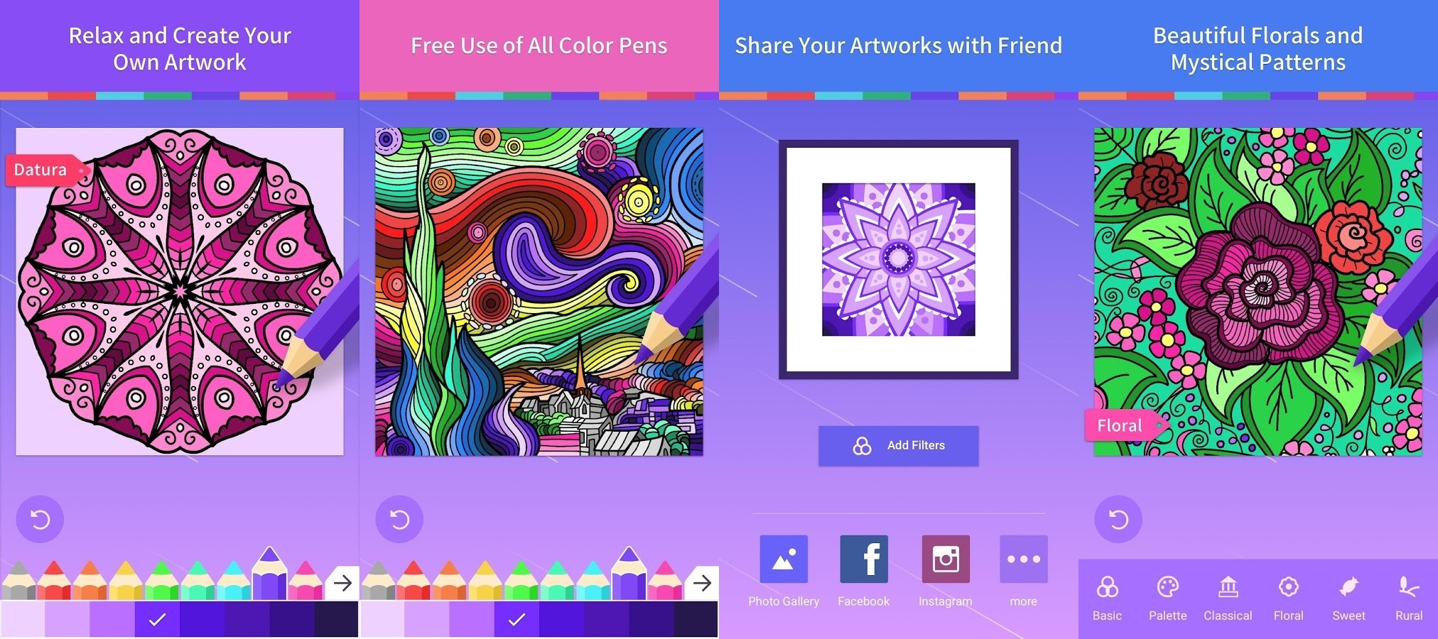 Adult Coloring Book For PC Windows And MAC Free Download
