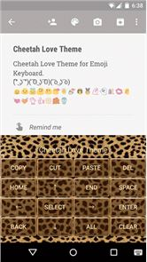 Cheetah Emoji Keyboard Theme image
