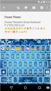 Frozen Emoji Keyboard Theme