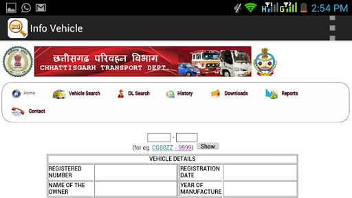 Info Vehicle-Find Address(RTO) image