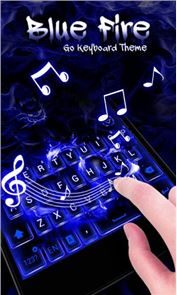 Blue Fire GO Keyboard Theme image
