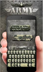 Army GO Keyboard Theme & Emoji image