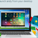 Install Android app on Desktop / Laptop through Andy app player.